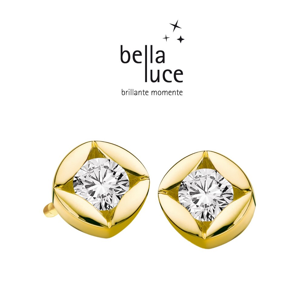 bellaluce Solitaire Ohrstecker Gelbgold 585/- 0,15ct / EH000720