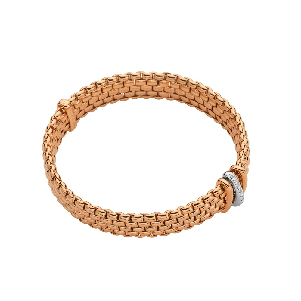 Fope Flex'it Armband – PANORAMA Collection – 587B BBR BR – Roségold 750/- Länge M