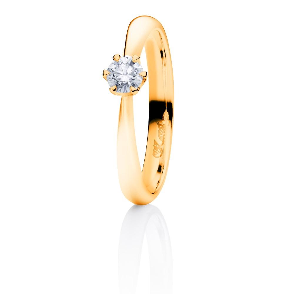 Juwelier Karat Ring Gelbgold 585/- 0,20ct