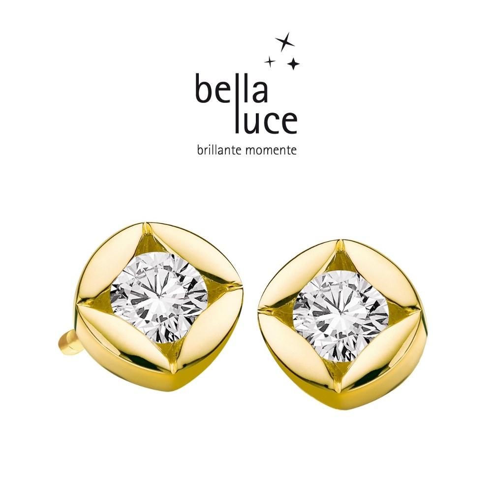 bellaluce Solitaire Ohrstecker Gelbgold 585/- 0,20ct / EH000722