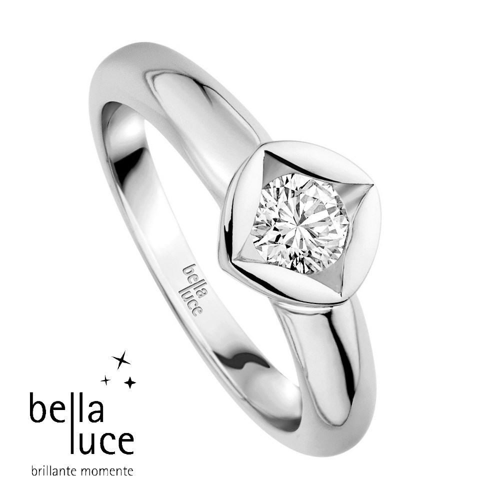 bellaluce Solitaire Ring Weißgold 585/- 0,20ct / EH000681
