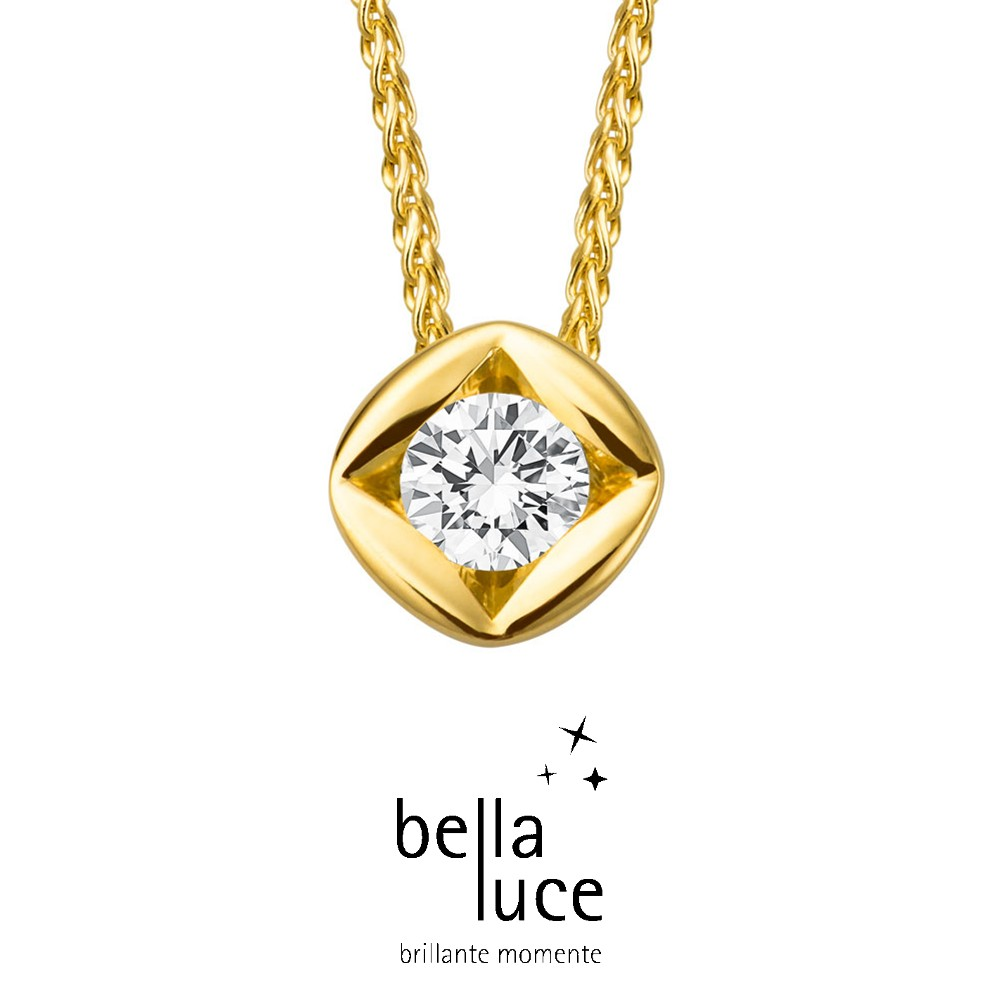bellaluce Solitaire Collier Gelbgold 585/- 0,15ct / EH000692