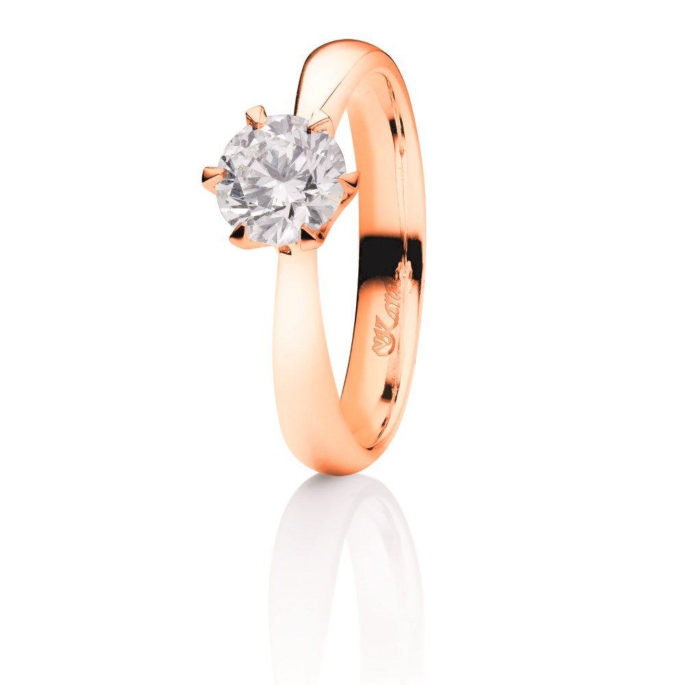 Juwelier Karat Ring Rotgold 585/- 0,50ct