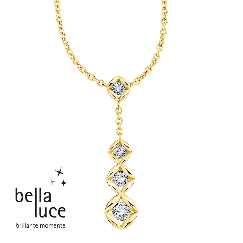 bellaluce Solitaire Collier Trilogie Gelbgold 585/- EH001570