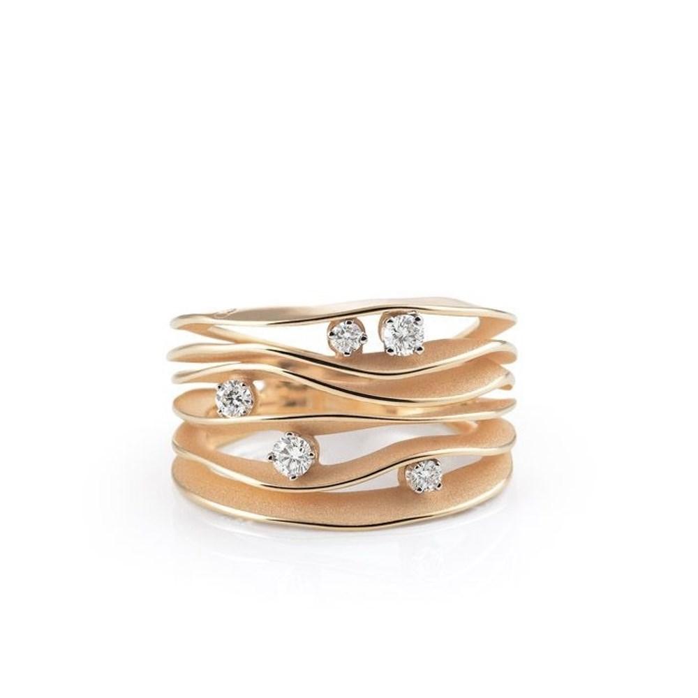 Annamaria Cammilli Essential DUNE Ring - GAN0914J - Aprico Orange Gold 750/-