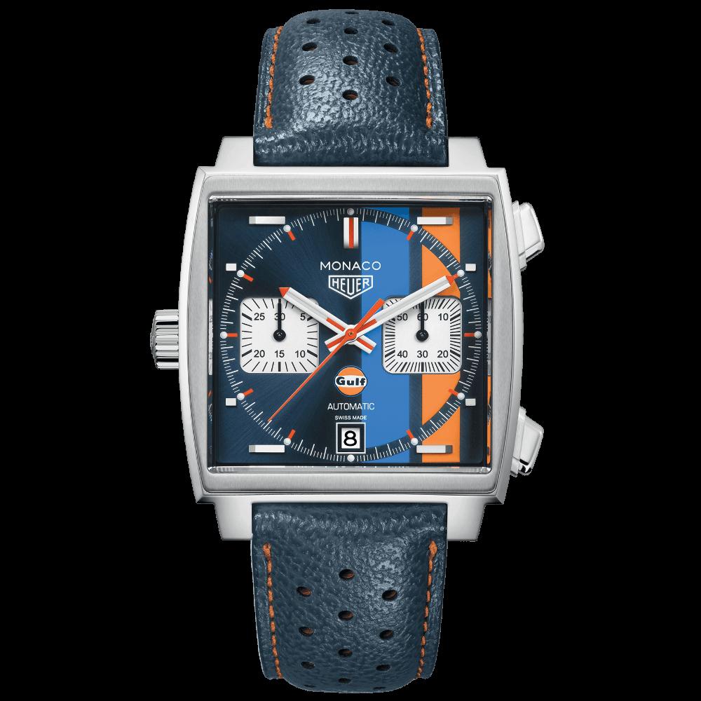 TAG Heuer Monaco Automatik Chronograph Calibre 11 - SPECIAL GULF EDITION - CAW211R.FC6401