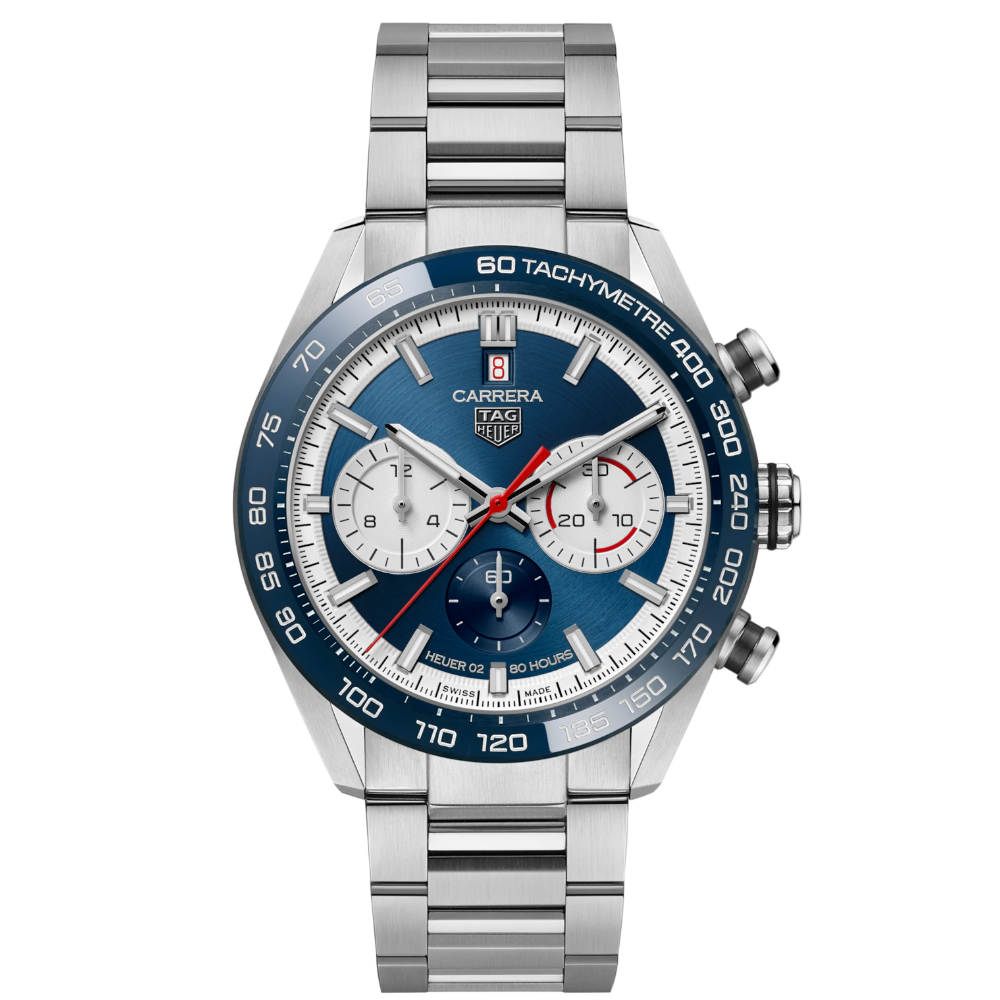 TAG Heuer Carrera Chronograph 44 Calibre Heuer 02 - 160 Years Anniversary LIMITED - CBN2A1E.BA0643
