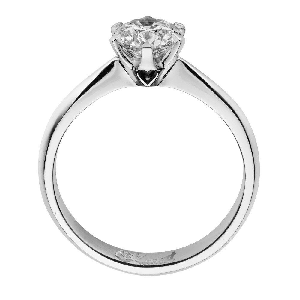 Juwelier Karat Ring Platin 950/- 0,30ct