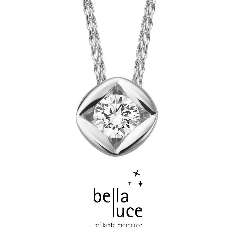 bellaluce Solitaire Collier Weißgold 585/- 0,20ct / EH000695