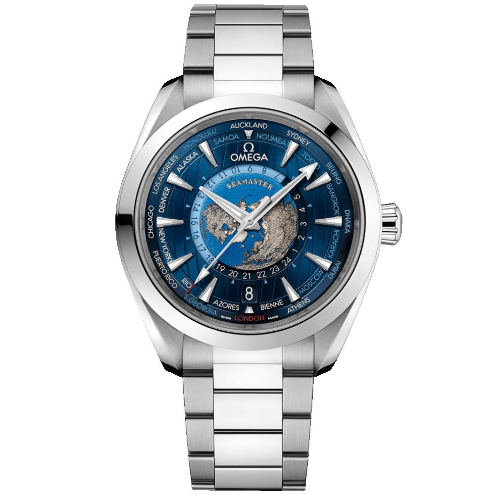 OMEGA Seamaster Aqua Terra 150M Co-Axial Master Chronometer GMT Worldtimer 43mm 220.10.43.22.03.001