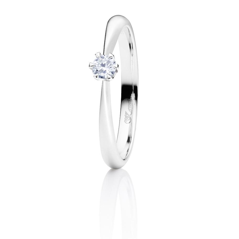 Juwelier Karat Ring Weißgold 585/- 0,10ct