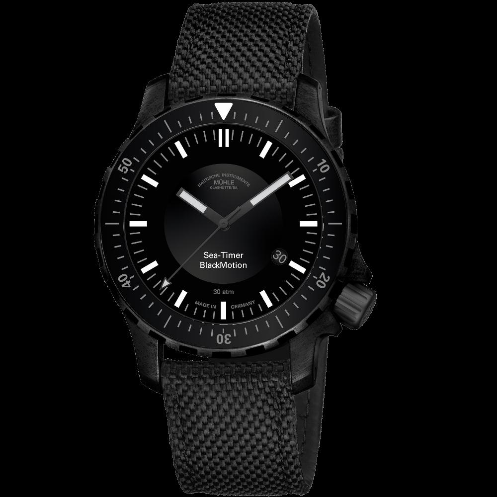 Mühle Glashütte Sea-Timer BlackMotion / M1-41-83-NB