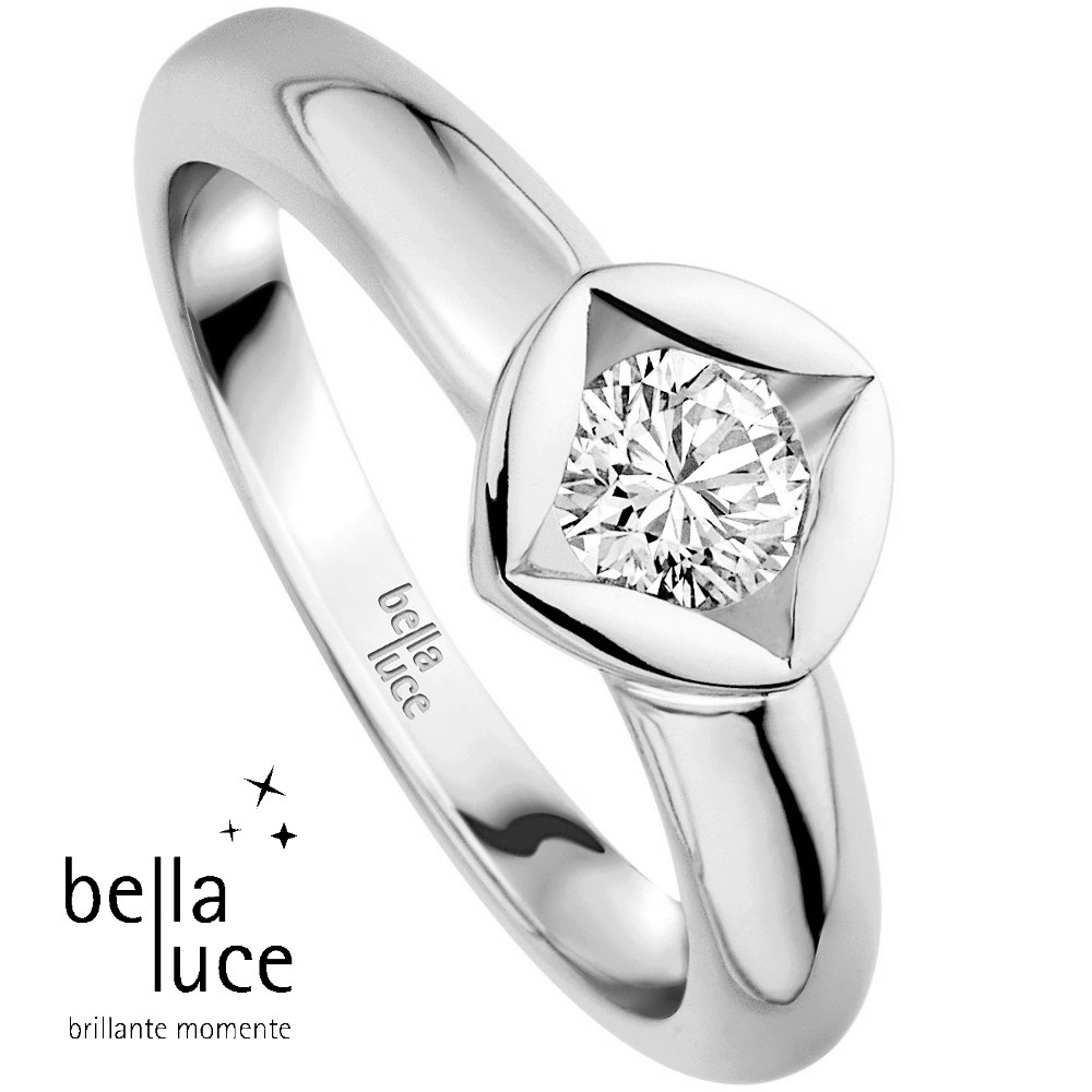 bellaluce Solitaire Ring Weißgold 585/- 1,00ct / EH000687