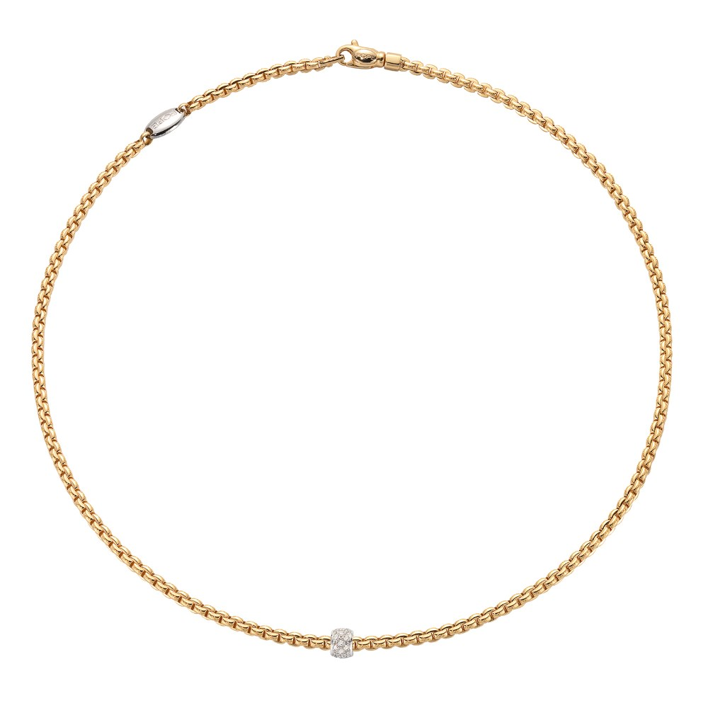 Fope Collier - EKA TINY Collection - 730C PAVE GB - Gelbgold 750/-