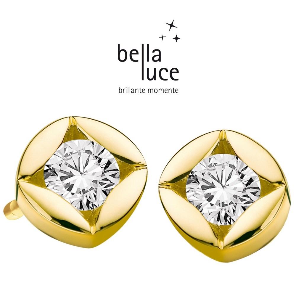 BellaLuce Solitaire Ohrstecker Gelbgold 585/- 1,00ct / EH000728