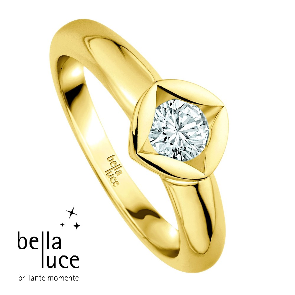 bellaluce Solitaire Ring Gelbgold 585/- 0,25ct / EH000682