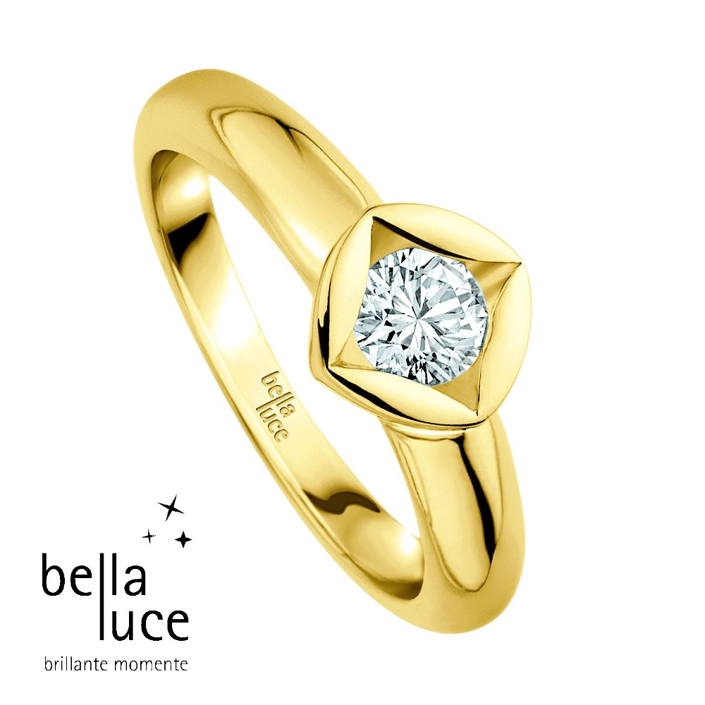 bellaluce Solitaire Ring Gelbgold 585/- 0,15ct / EH000678