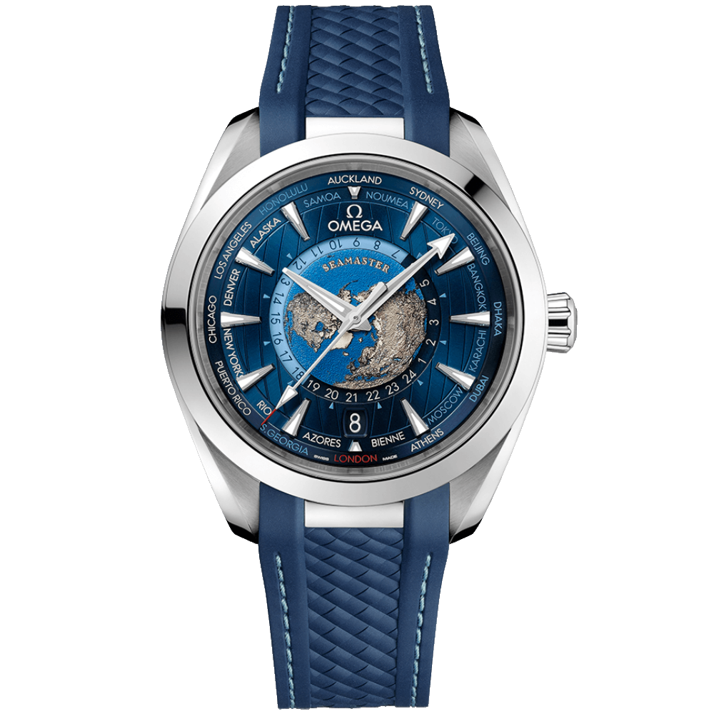 OMEGA Seamaster Aqua Terra 150M Co-Axial Master Chronometer GMT Worldtimer 43mm 220.12.43.22.03.001
