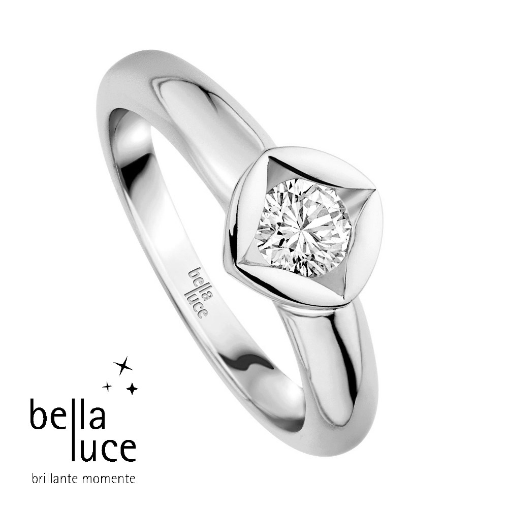 bellaluce Solitaire Ring Weißgold 585/- 0,15ct / EH000679