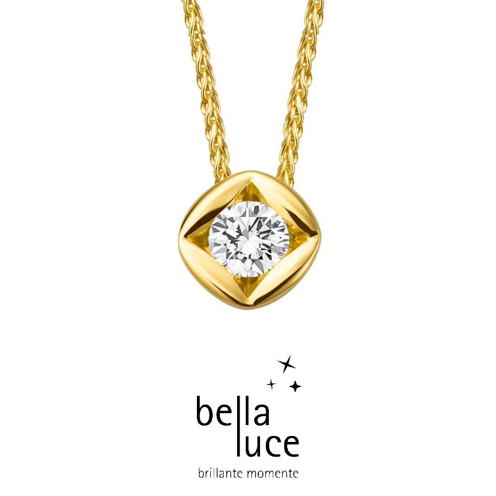 bellaluce Solitaire Collier Gelbgold 585/- 0,10ct / EH000690