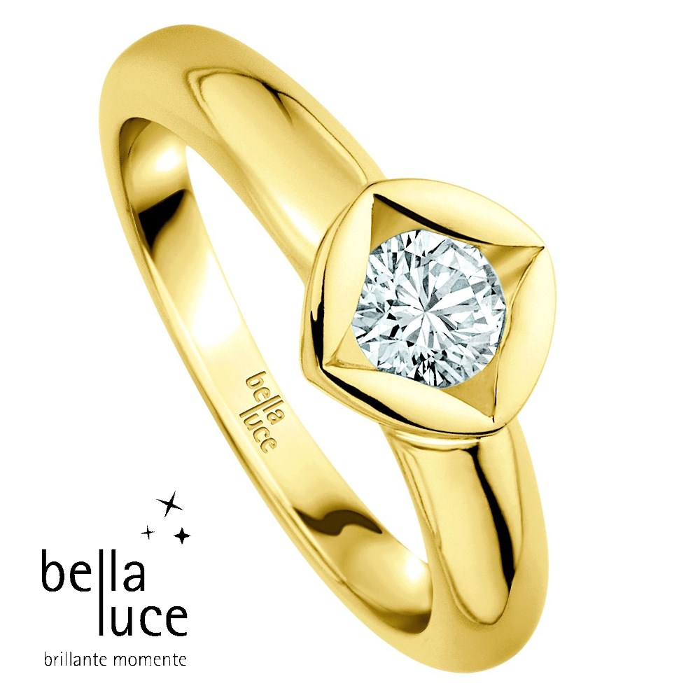 bellaluce Solitaire Ring Gelbgold 585/- 0,50ct / EH000684
