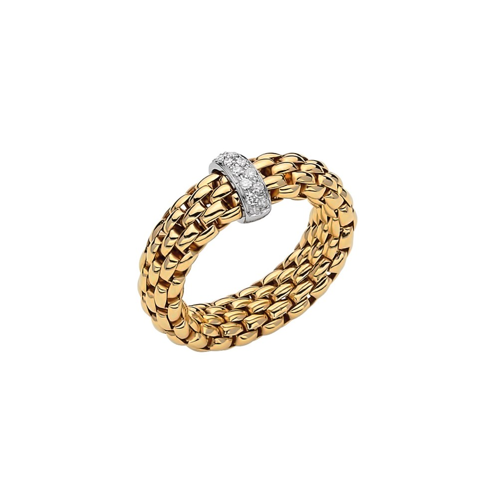 Fope Flex'it Ring - VENDÔME Collection - AN559 BBR GB - Gelbgold 750/- Weite L