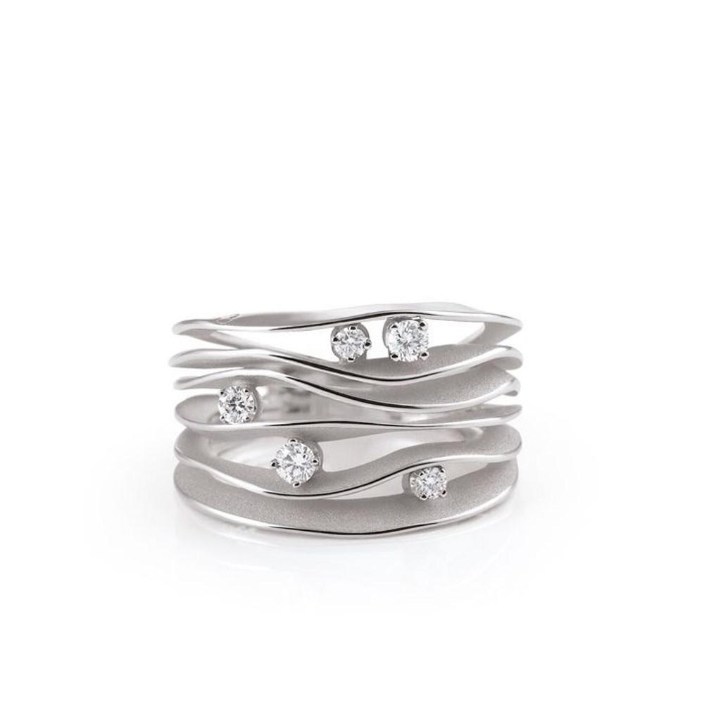 Annamaria Cammilli Essential DUNE Ring - GAN0914W - Ice White Gold 750/-