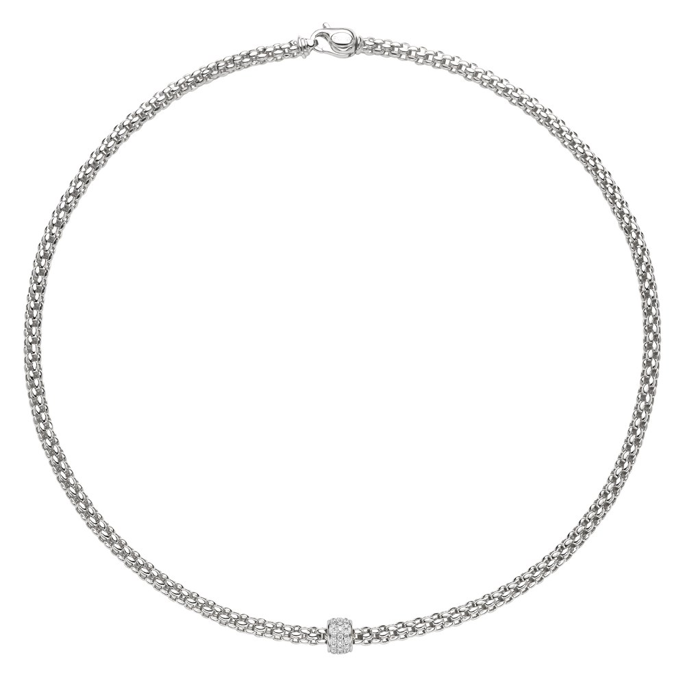 Fope Collier - SOLO Collection - 634C PAVE B - Weissgold 750/-