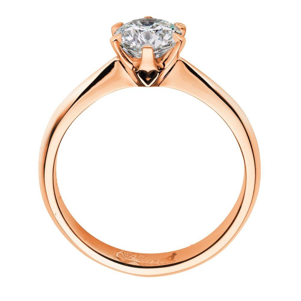Juwelier Karat Ring Rotgold 585/- 0,30ct