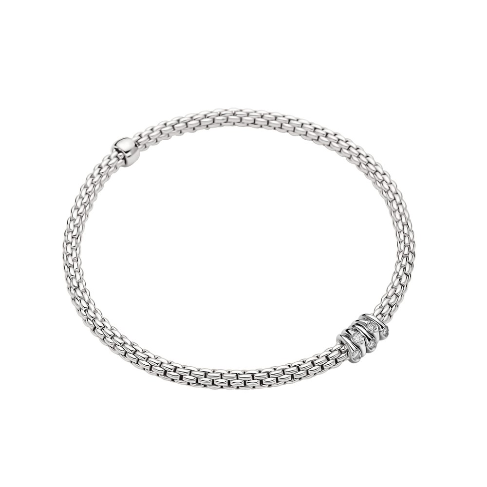 Fope Flex'it Armband - PRIMA Collection - 746B BBR B - Weißgold 750/- Länge M