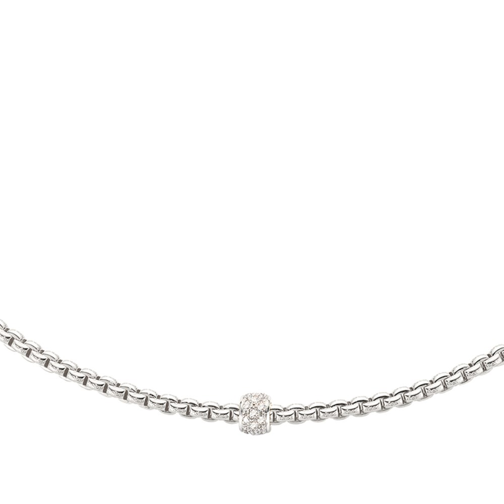 Fope Collier - EKA TINY Collection - 730C PAVE B - Weissgold 750/-