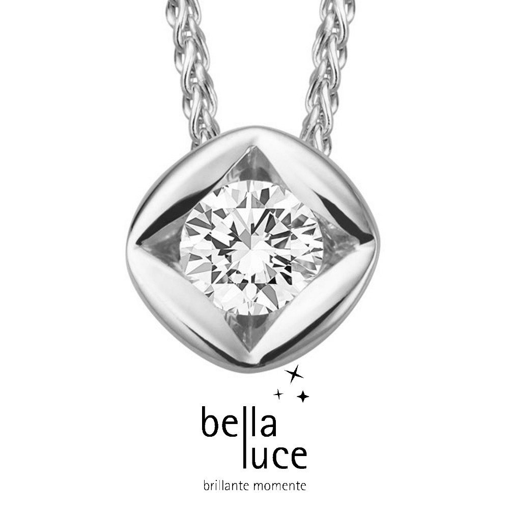 bellaluce Solitaire Collier Weißgold 585/- 1,00ct / EH000701