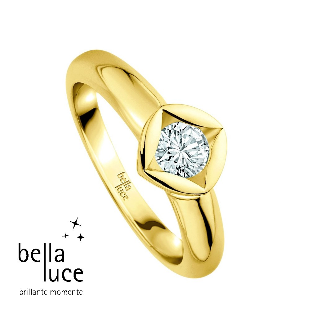 bellaluce Solitaire Ring Gelbgold 585/- 0,10ct / EH000676