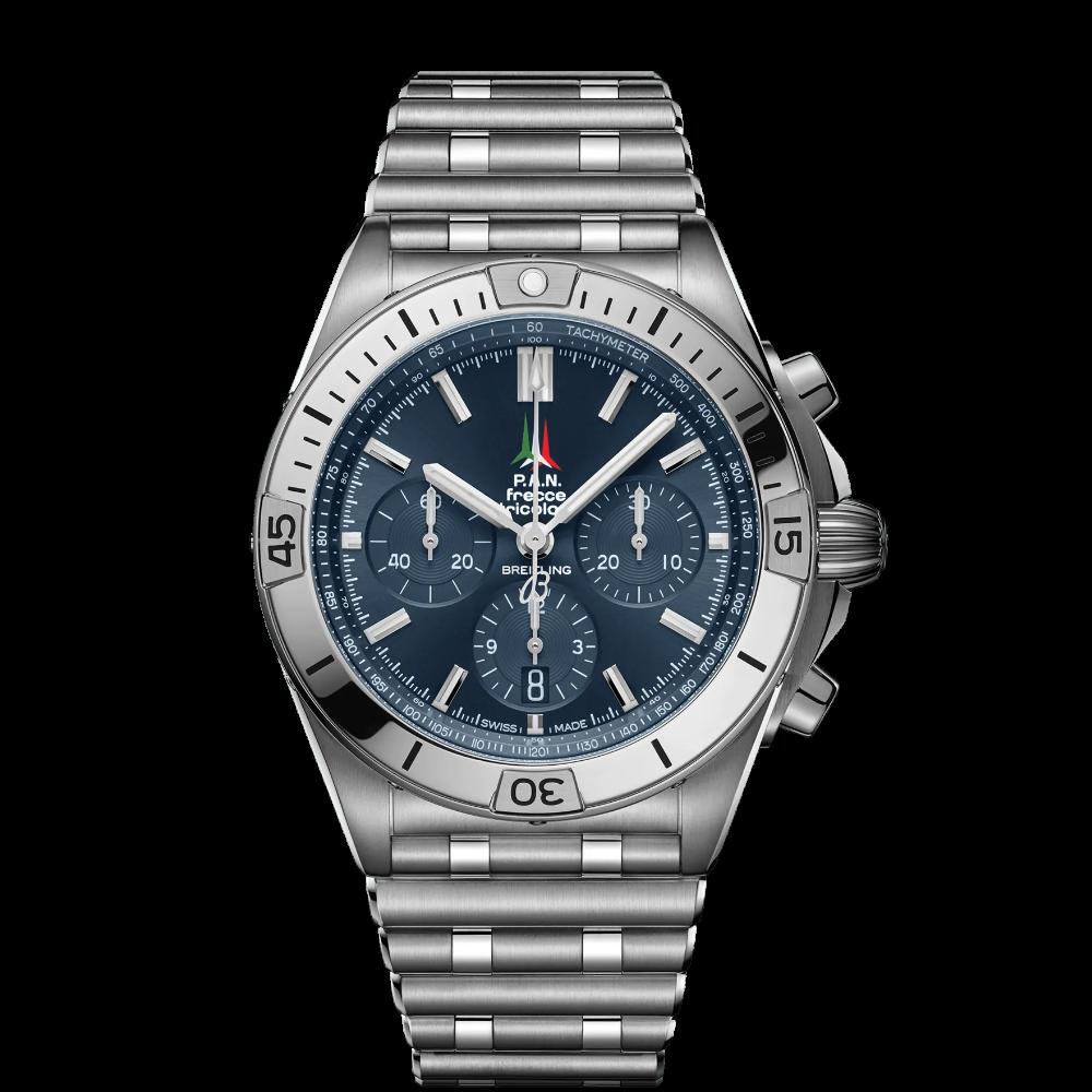 Breitling Chronomat B01 42 Frecce Tricolori Limited Edition / AB01344A1C1A1