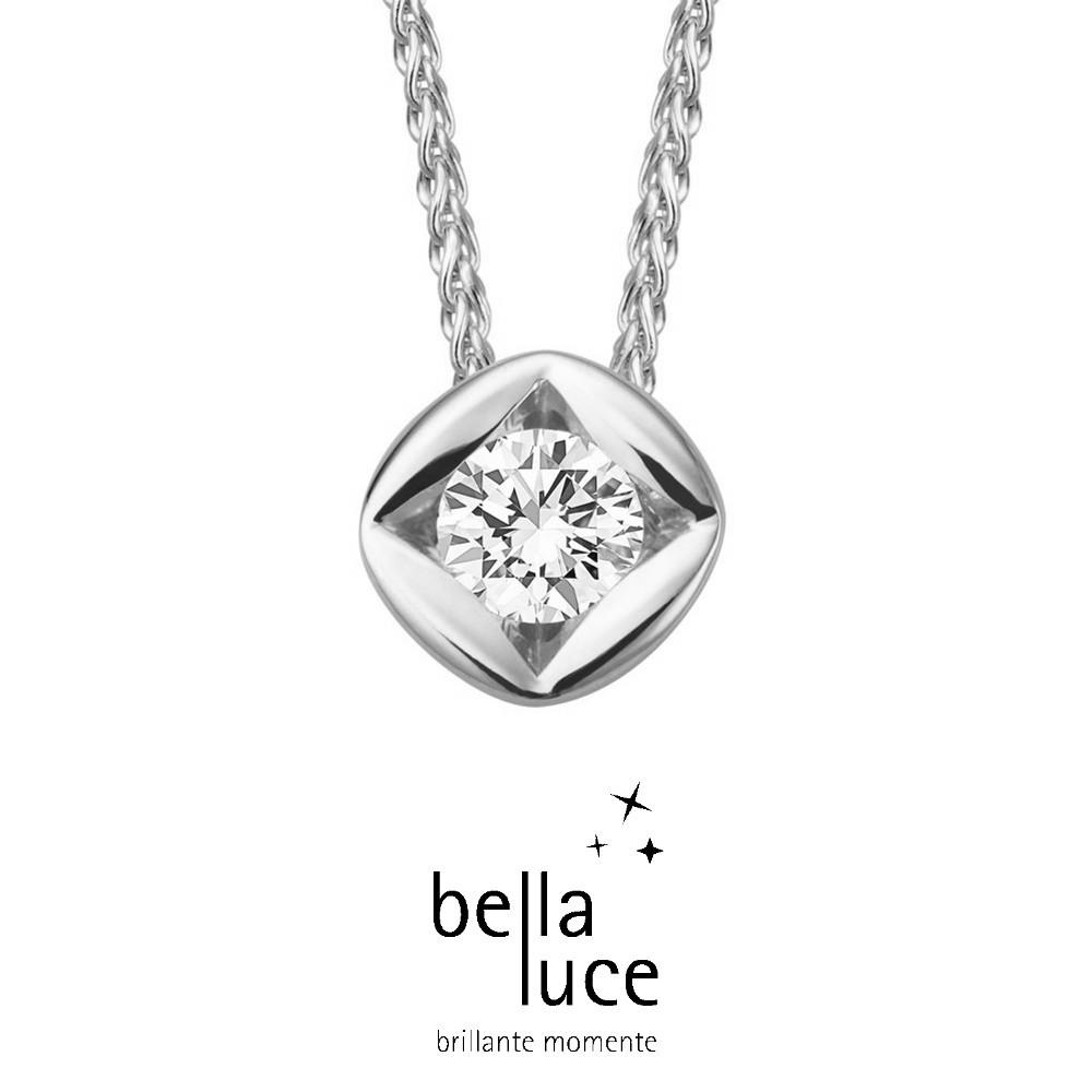 bellaluce Solitaire Collier Weißgold 585/- 0,15ct / EH000693