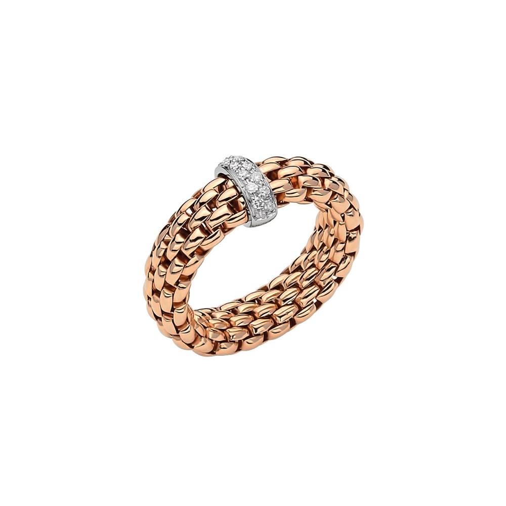 Fope Flex'it Ring - VENDÔME Collection - AN559 BBR BR - Roségold 750/- Weite M