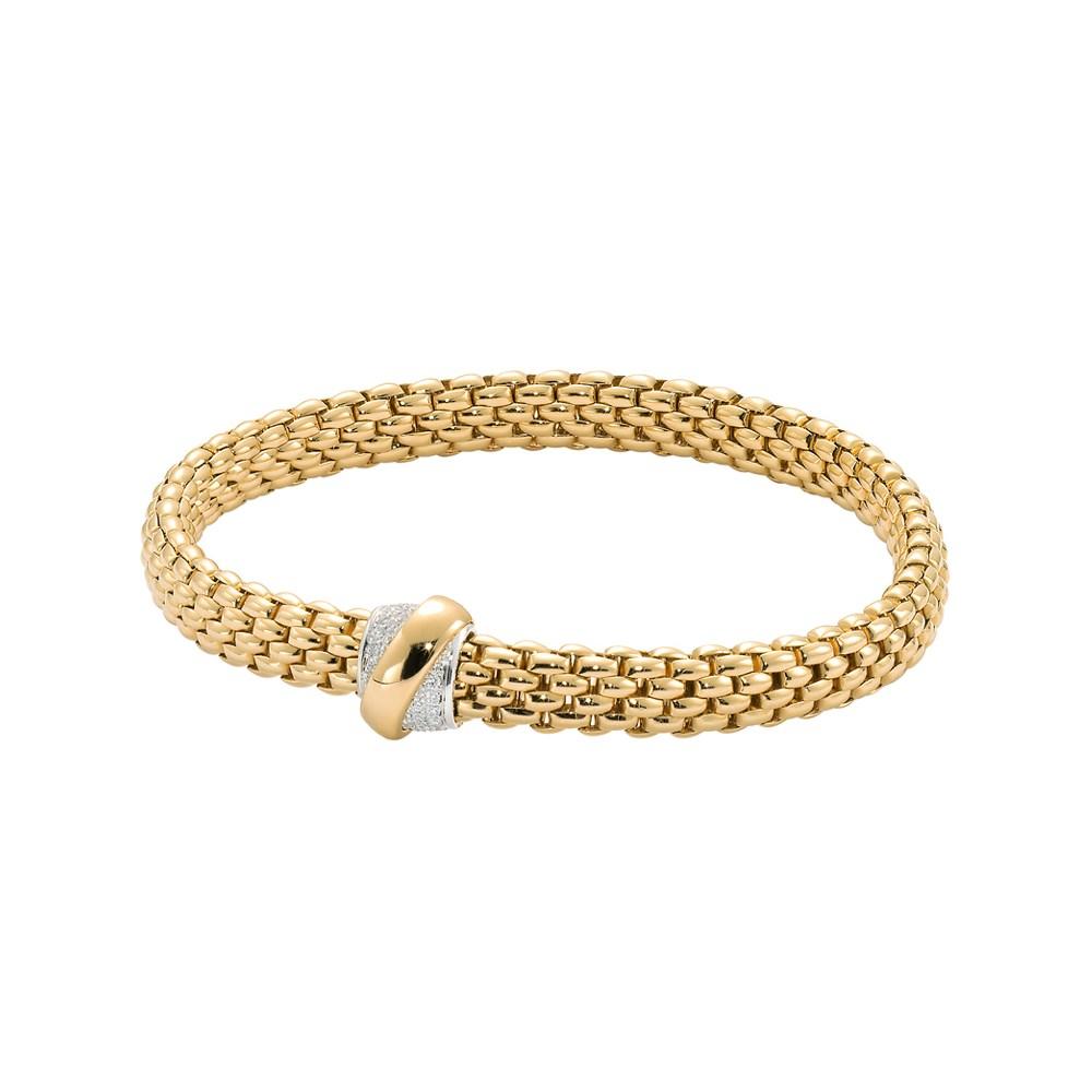 Fope Flex'it Armband - VENDÔME Collection - 540B BBR GB - Gelbgold 750/- Länge M