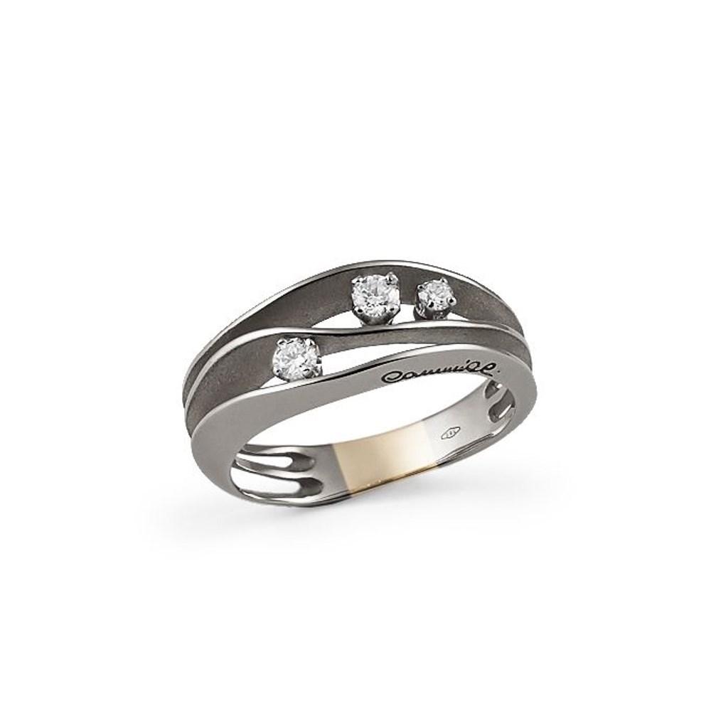Annamaria Cammilli Essential DUNE Ring - GAN2662E - Lava Black Gold 750/-