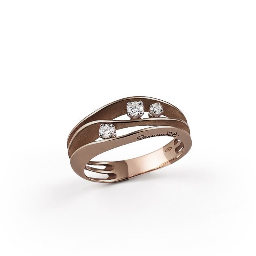 Annamaria Cammilli Essential DUNE Ring - GAN2662C - Brown Chocolate Gold 750/-