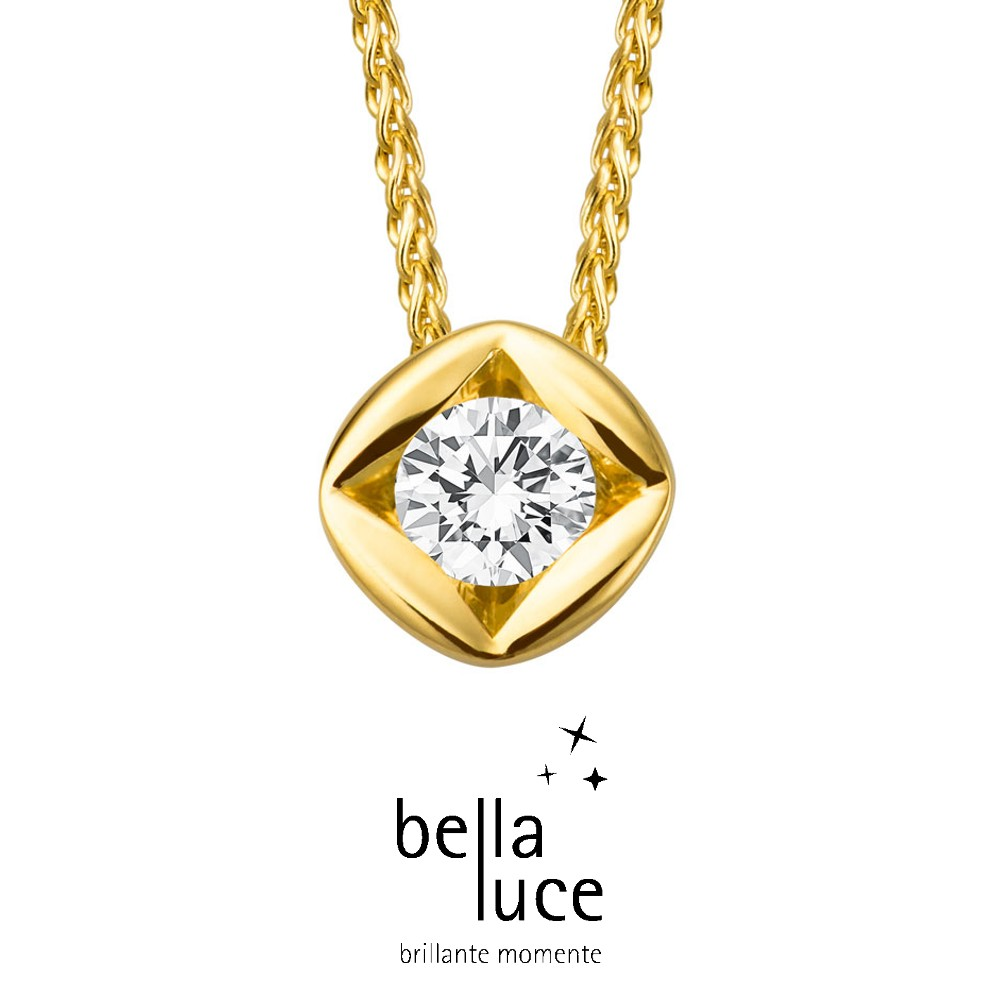 bellaluce Solitaire Collier Gelbgold 585/- 0,25ct / EH000696