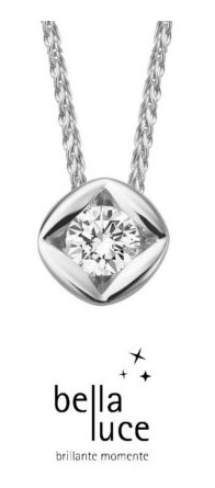 bellaluce Solitaire Colier Weißgold 585/- 0,10ct/ EH000691