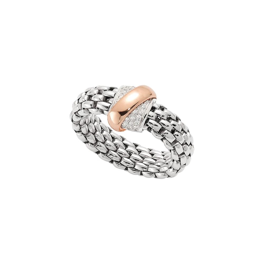 Fope Flex'it Ring - VENDÔME Collection - AN540 BBR B - Weissgold 750/- Größe M