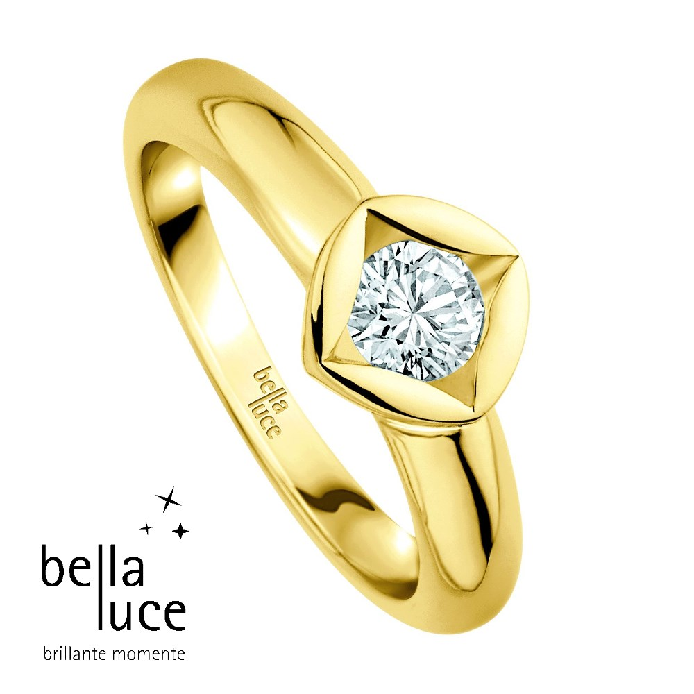 bellaluce Solitaire Ring Gelbgold 585/- 0,20ct / EH000680
