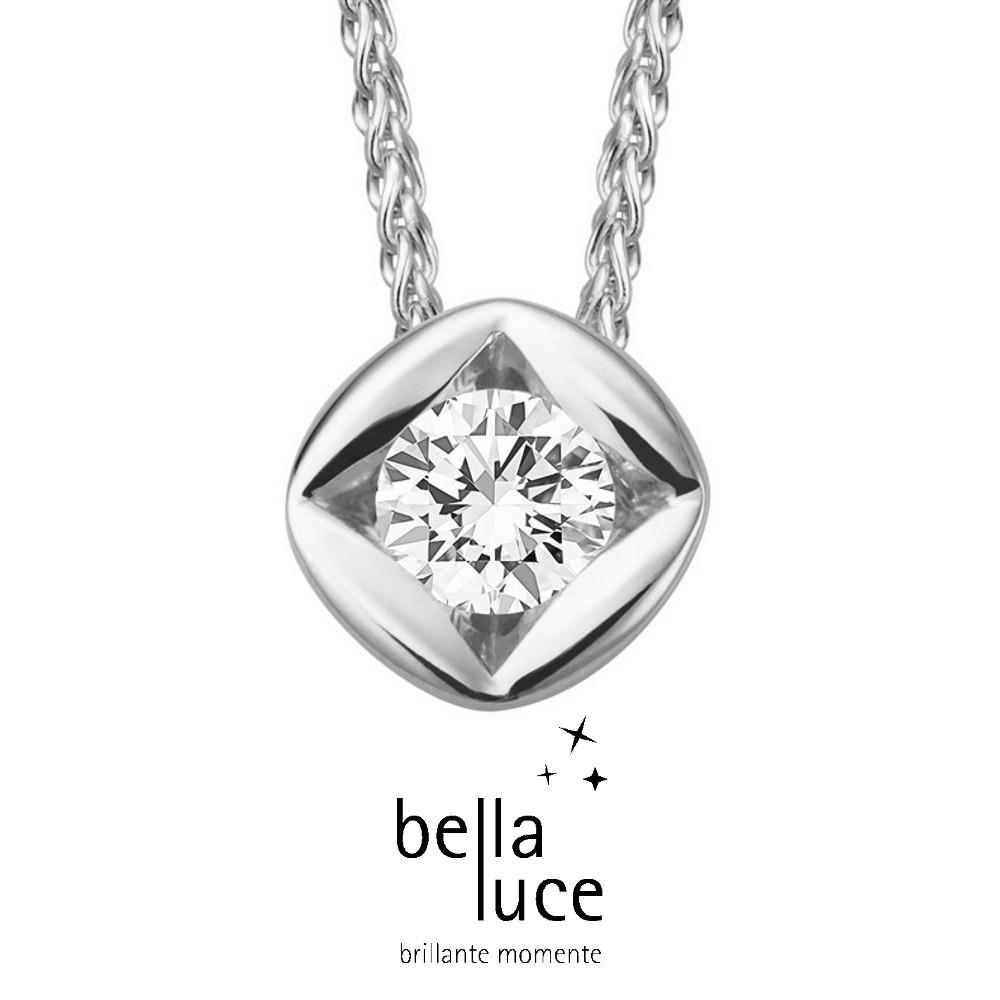 bellaluce Solitaire Collier Weißgold 585/- 0,50ct / EH000699