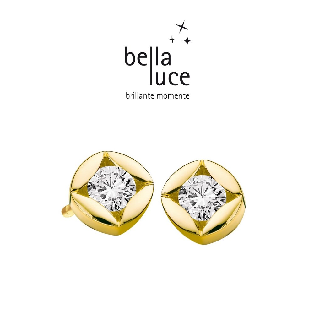 bellaluce Solitaire Ohrstecker Gelbgold 585/- 0,10ct / EH000718