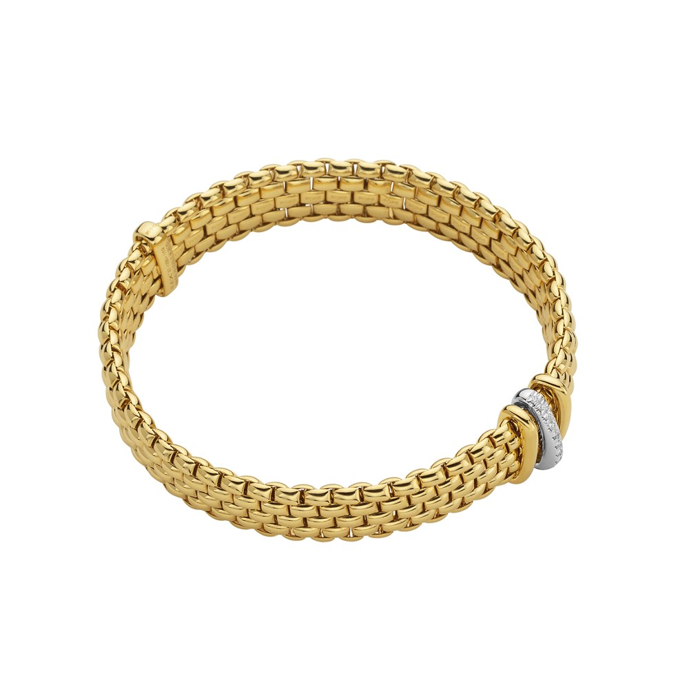 Fope Flex'it Armband – PANORAMA Collection – 587B BBR GB – Gelbgold 750/- Länge M