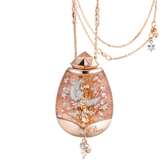 Capolavoro Collier - BILLION DREAMS Collection - Snow Globe Lucky Stars - Roségold 750/- CO900001