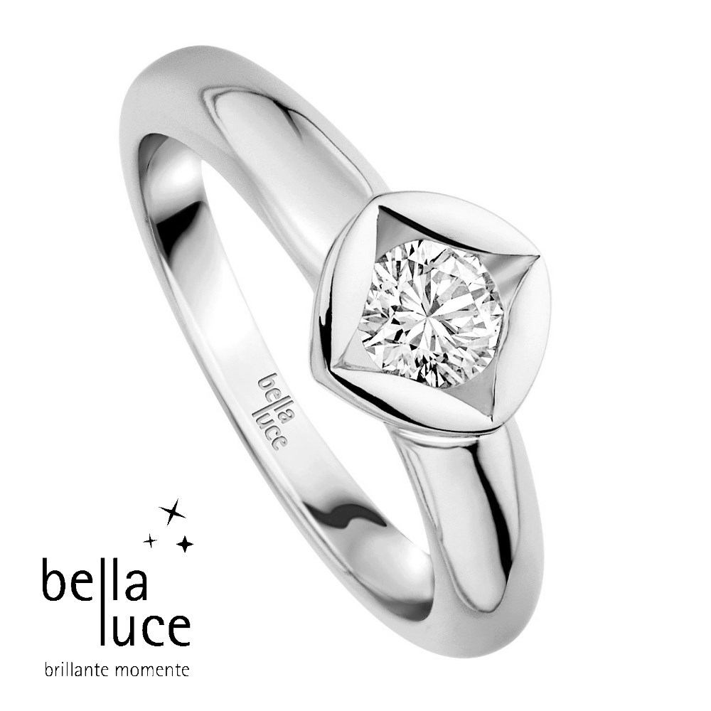 bellaluce Solitaire Ring Weißgold 585/- 0,25ct / EH000683