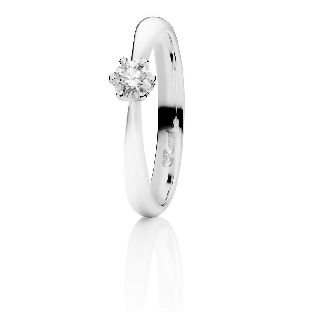 Juwelier Karat Ring Weißgold 585/- 0,20ct