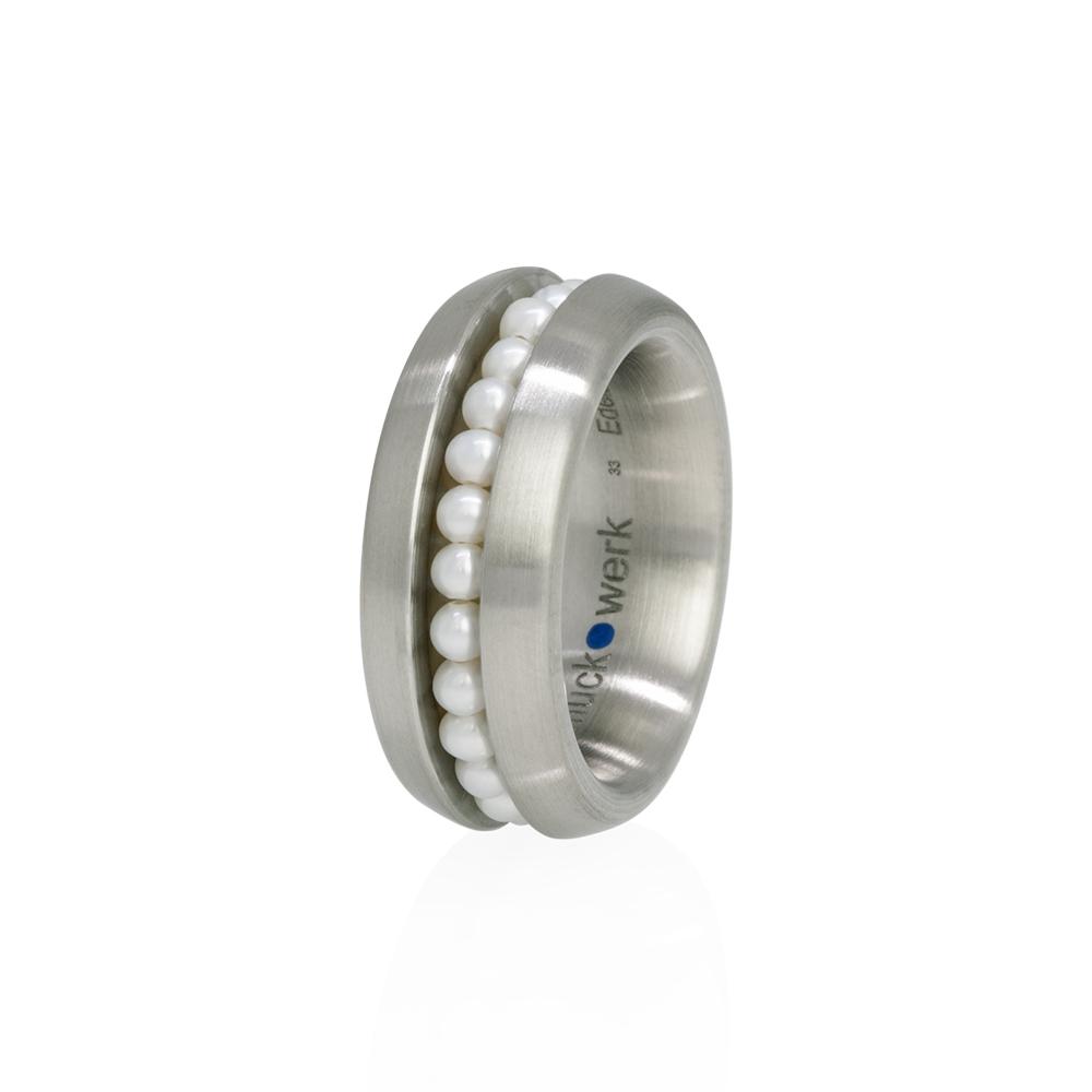 schmuck•werk Rassel Ring - RR791ST - Edelstahl